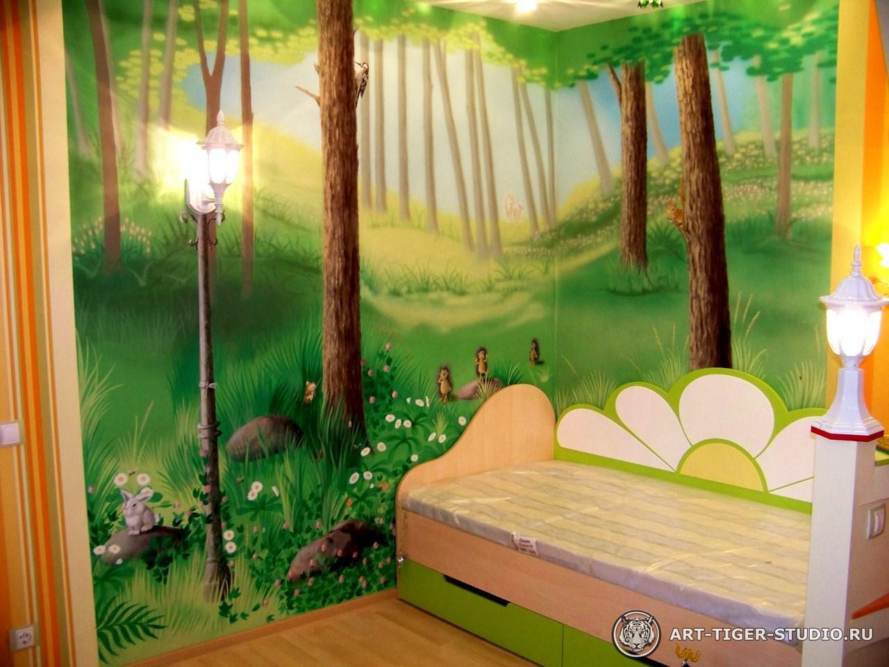 Роспись на стенах детские дизайн